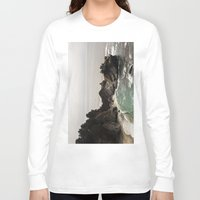 big sur Long Sleeve T-shirts featuring BIG SUR, CA WATERFALL AND COAST by Jeremiah Wilson