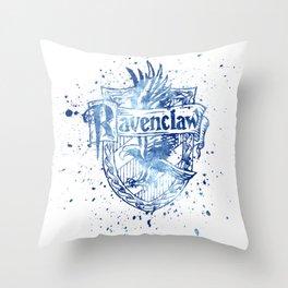 Ravenclaw House silhouette splatter Throw Pillow