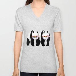 Lesbian  Gay Pride Pandas Unisex V-Neck
