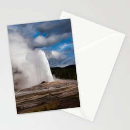 Geyser Starting to Blow Stationery Cards