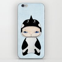 killer whale iPhone & iPod Skins featuring A Boy - Killer Whale by Christophe Chiozzi