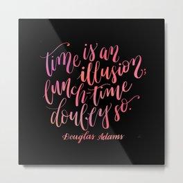 Douglas Adams Quote Metal Print