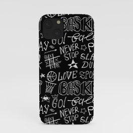 Basketball. Go! Black. iPhone Case