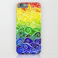 Rainbow Water Waves iPhone 6s Slim Case
