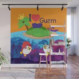 Ernest & Coraline | I love Guam Wall Mural