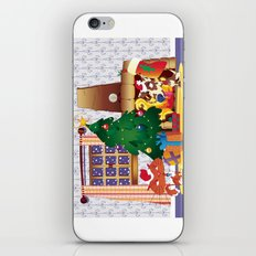 Merry Christmas Cat and Dog iPhone & iPod Skin
