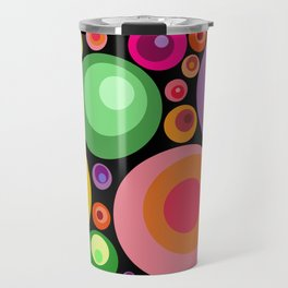 Circles psychedelia Travel Mug