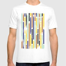 Stripey Mens Fitted Tee White MEDIUM