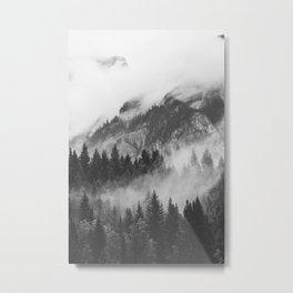 Vancouver Fog B&W Metal Print
