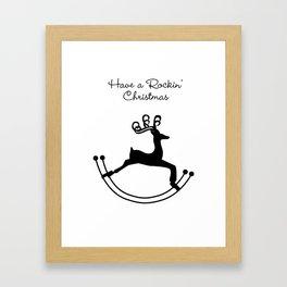 Rockin' Christmas Framed Art Print