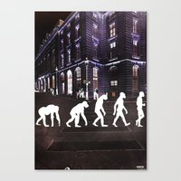 evolution Canvas Prints featuring Evolution  by Joe Ganech