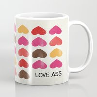 ass Mugs featuring LOVE ASS by Lulla