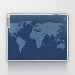 Denim Map Laptop & iPad Skin