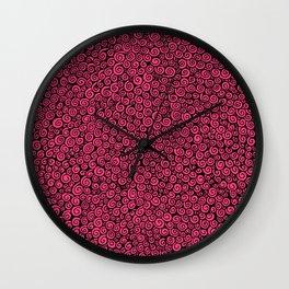 Pink Spirals Wall Clock