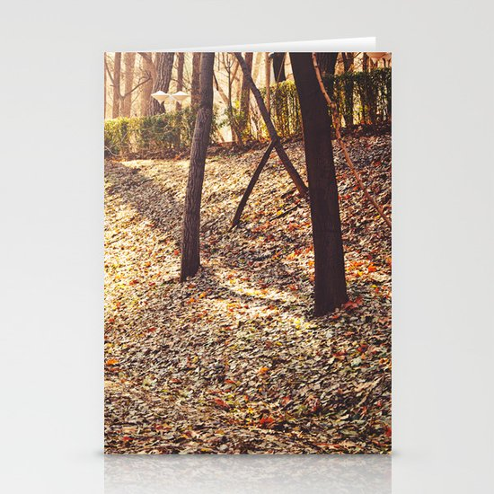 Bed of Leaves Stationery Cards