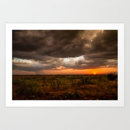 West Texas Sunset - Colorful Landscape After Storms Art Print