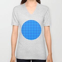 Dark Blue Cubes - Geometric Work Unisex V-Neck