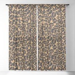 Leopard Print | Cheetah texture pattern Sheer Curtain