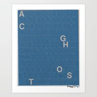 Ghost Cats Ghost Letters Art Print
