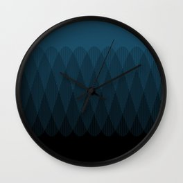 Blue to Black Ombre Signal Wall Clock