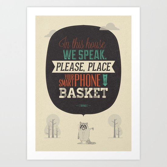 In this house we speak. Art Print