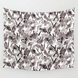 Painted Floral Wall Tapestry