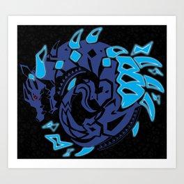 Abyssal Lagiacrus Sigil Art Print