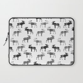 Moose Trot // Black & White Plaid Laptop Sleeve