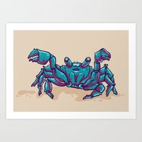 crab Art Prints featuring Crab by Jenji