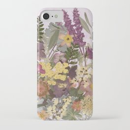 Pressed Flower English Garden iPhone Case