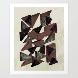 Mirrors - Composition in Rust Art Print