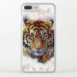 Tigers Eyes Clear iPhone Case
