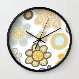 Big and Bold Modern Floral No. 4 Wall Clock