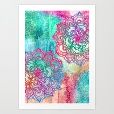 Round & Round the Rainbow Art Print