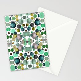 Watercolor circles Stationery Cards