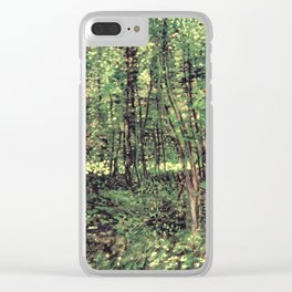 Trees and Undergrowth Clear iPhone Case