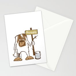 Sasquatch Abominable Painted Stationery Cards