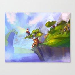 -Tree-Lighthouse- Canvas Print