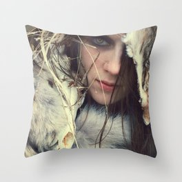 Coyote Girl Throw Pillow