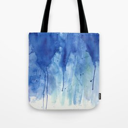 Crackling blue Tote Bag