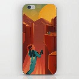 Vintage Adventure Travel Olympus Mons Awaits iPhone Skin