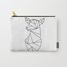 Geometric Doe (Black on White) Carry-All Pouch