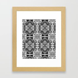 absence black and white Framed Art Print