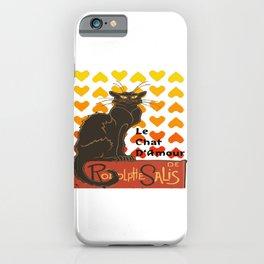 Le Chat Damour De Rodolphe Salis Valentine Cat iPhone Case