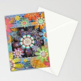 Groovy Funky Boho Framed Floral Stationery Cards
