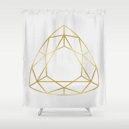Golden diamond IV Shower Curtain