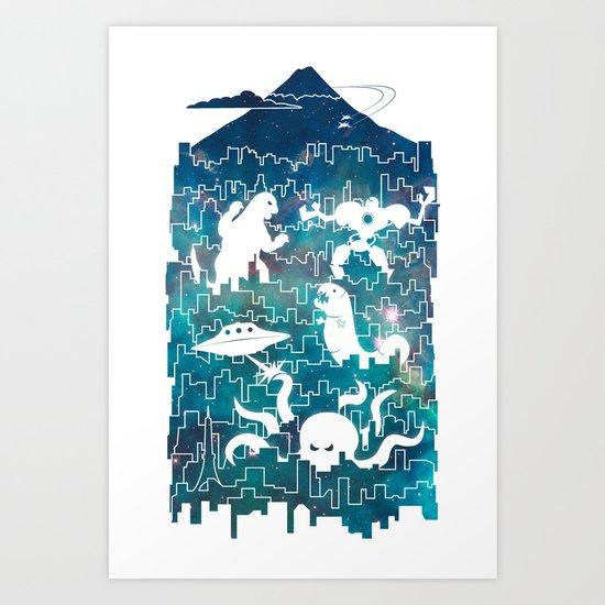 Tokyo Smackdown Art Print