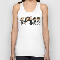 1d Tank Tops featuring Schulz Dancing 1D by Ashley R. Guillory