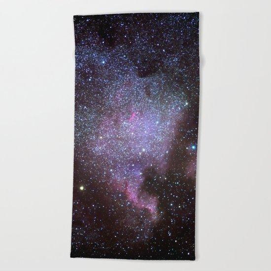 North American Nebulae. The Milky way. North America Nebula Beach Towel