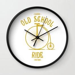 Old school ride bike retro vintage design Wall Clock